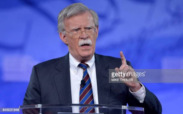 Former US Ambassador to the UN John Bolton speaks to the Conservative Political Action Conference at National Harbor Maryland February 24 2017 / AFP...