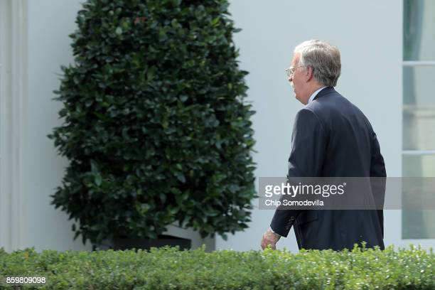 Former US ambassador to the United Nations John Bolton arrives at the White House October 10 2017 in Washington DC In a Forbes interview published...