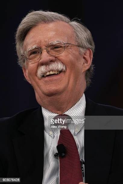 Former US Ambassador to the United Nations John Bolton speaks during CPAC 2018 February 22 2018 in National Harbor Maryland The American Conservative...