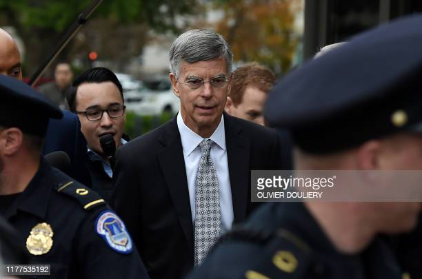 Former US Ambassador to Ukraine Bill Taylor arrives at the US Capitol to testify before the House Intelligence Foreign Affairs and Oversight...