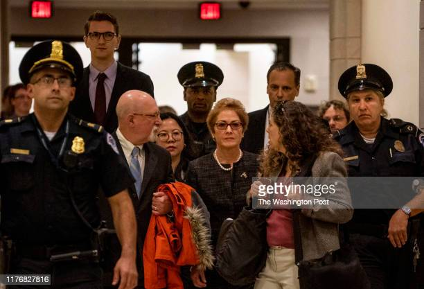 Former US Ambassador to Ukraine Marie Yovanovitch arrives on Capitol Hill to appear before lawmakers in closeddoor questioning for the House...
