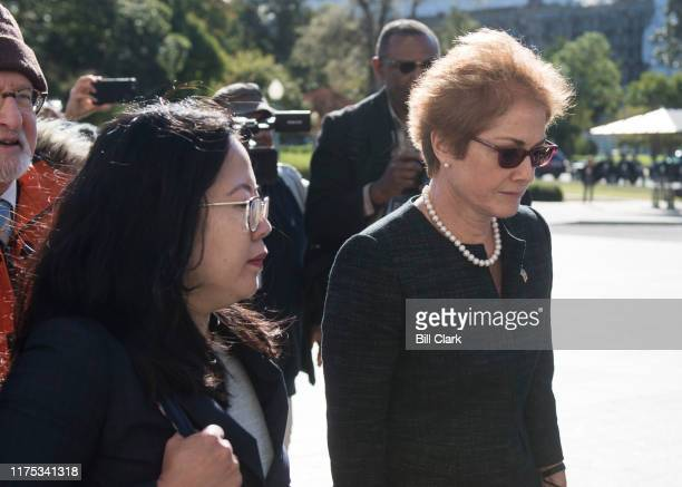 Former US Ambassador to Ukraine Marie Yovanovitch arrives to testify behind closed doors at the Capitol on Friday Oct 11 2019