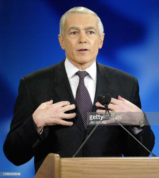 Former U.S. Army General Wesley Clark speaks during the Democratic debate, 22 January at Saint Anselm College in Manchester, NH. This is the final...