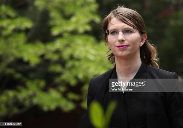 Former US Army intelligence analyst Chelsea Manning arrives at the Albert Bryan US federal courthouse May 16 2019 in Alexandria Virginia Manning who...