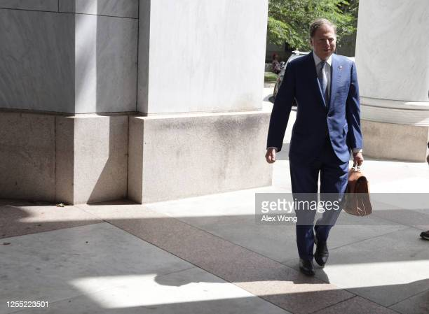 Former US Attorney for the Southern District of New York Geoffrey Berman arrives at Rayburn House Office Building July 9 2020 in Washington DC Berman...