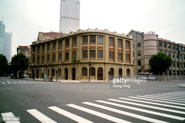 Former US barracks at the corner of the crossroad built in 1910 A large number of historical buildings in Tianjin combine western and Chinese...