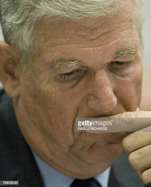 Former US Chairman of the Joint Chiefs of Staff Gen Richard Myers testifies before the US House of Representatives Committee on Oversight and...
