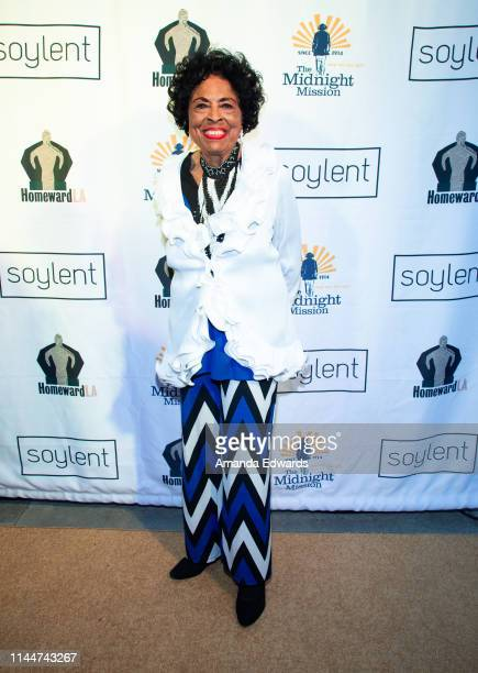 Former US Congresswoman Diane E Watson attends a celebrity live reading to benefit homeless charities hosted by The Midnight Mission and Homeward LA...