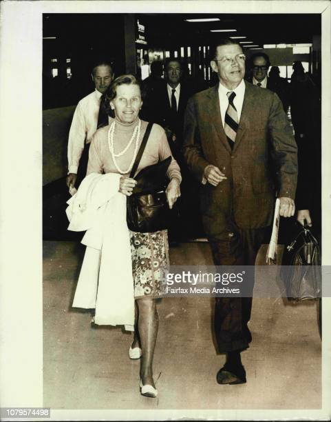 Former US Defence Secretary and now President of the World Bank Mr Robert McNamara who breezed through the airport with his wife Margaret this...