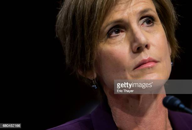 Former US Deputy Attorney General Sally Yates testifies before the Senate Judicary Committee's Subcommittee on Crime and Terrorism in the Hart Senate...