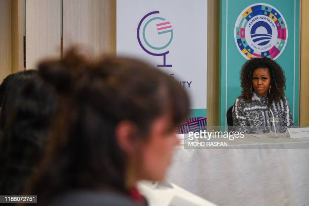Former US first lady Michelle Obama attends a side event for the Obama Foundation in Kuala Lumpur on December 12, 2019.