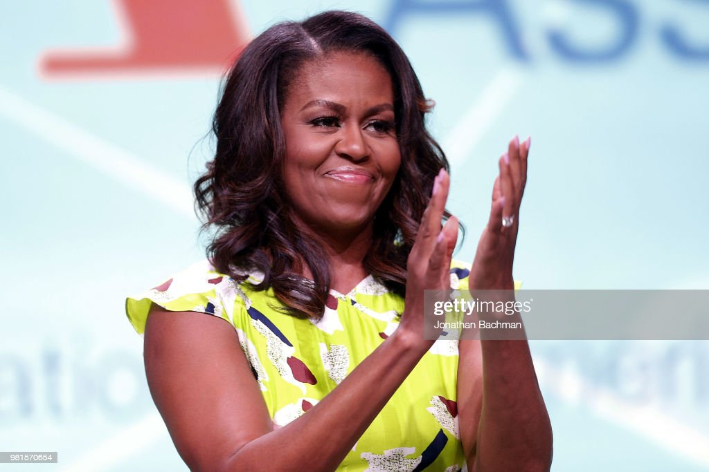 Michelle Obama Discusses Her New Memoir At American Library Assn Conference : News Photo