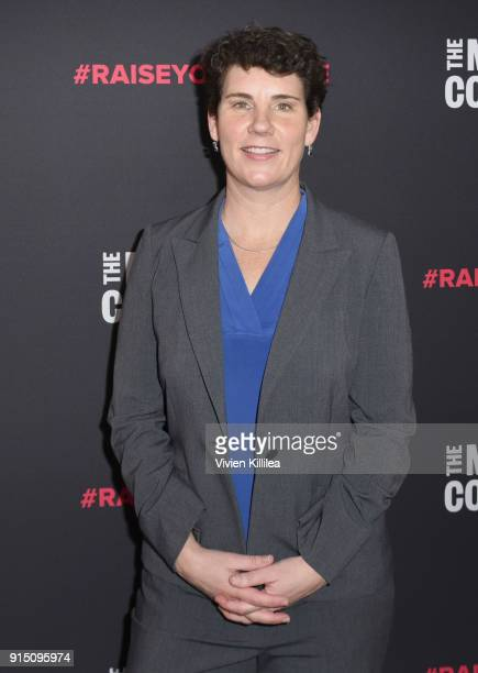 Former US Marine Congressional Candidate in Kentucky Amy McGrath attends The 2018 MAKERS Conference at NeueHouse Hollywood on February 6 2018 in Los...