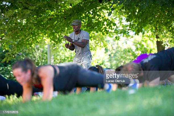 TORONTO ON JULY Former US marine corps drill instructor Tony Austin now runs a bootcamp out of the Fit Factory in Toronto Austin trains his clients...