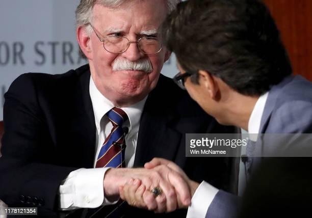 Former US National Security Advisor John Bolton appears at the Center for Strategic and International Studies before delivering remarks September 30...
