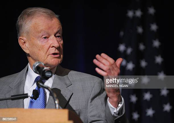 Former US national security advisor Zbigniew Brzezinski speaks during a forum on USSaudi relations ON April 27 2009 at a hotel in Washington AFP...