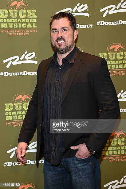 Former US Navy SEAL Marcus Luttrell attends the Duck Commander Musical premiere at the Crown Theater at the Rio Hotel Casino on April 15 2015 in Las...