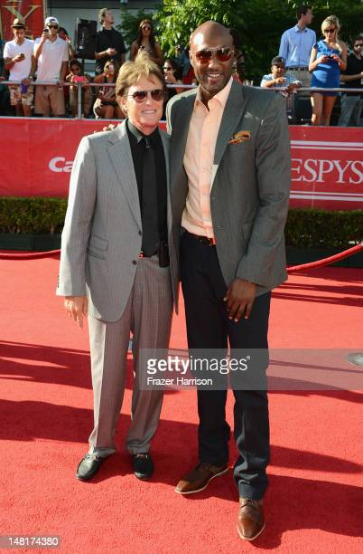 Former US Olympian Bruce Jenner and NBA player Lamar Odom arrive at the 2012 ESPY Awards at Nokia Theatre LA Live on July 11 2012 in Los Angeles...