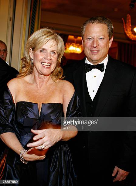 Former US President and Nobel Peace Prize winner Al Gore with his wife Tipper are pictured before the Nobel Committe's Banquet at the Grand Hotel 10...