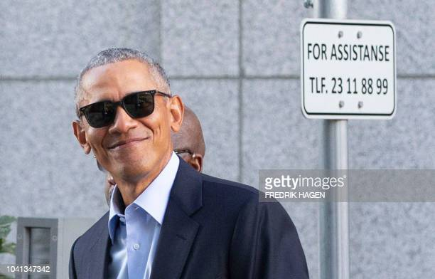 Former US President Barack Obama attends the Oslo Business Forum on September 26 2018 / Norway OUT