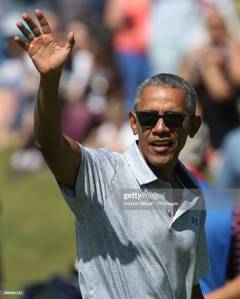 Barack Obama visit to Scotland : News Photo