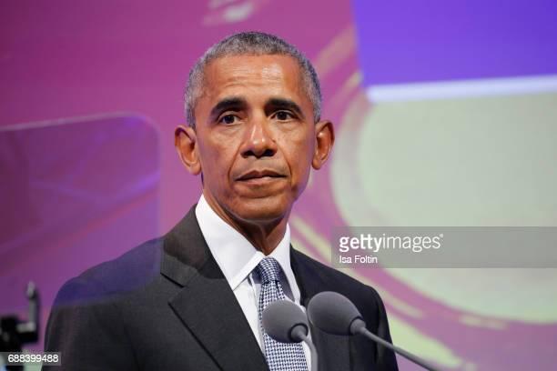 Former US president Barack Obama during the German Media Award 2016 at Kongresshaus on May 25 2017 in BadenBaden Germany The German Media Award has...
