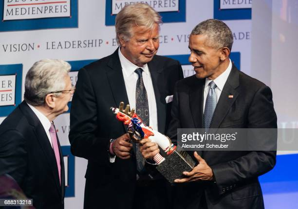 Former US president Barack Obama receives the German Media Award 2016 by Joachim Gauck former President of Germany during the German Media Award 2016...