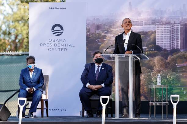 IL: Obamas Break Ground On Long-Delayed Presidential Center In Chicago