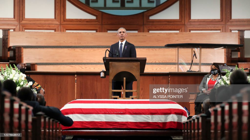 US-POLITICS-FUNERAL-LEWIS : News Photo