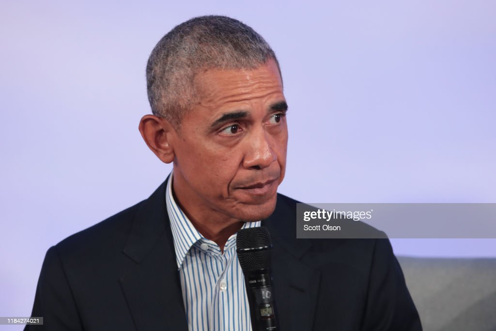 Barack And Michelle Obama Speak At Obama Foundation Summit : News Photo