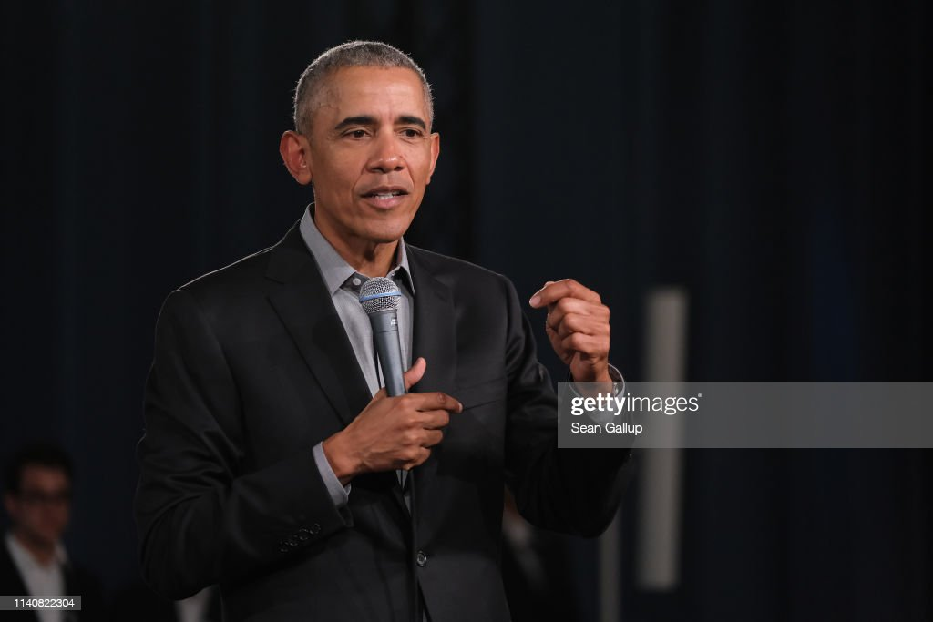 Barack Obama Speaks In Berlin : News Photo