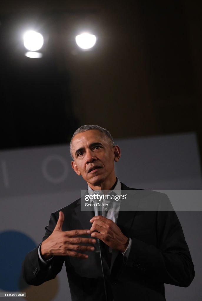 Barack Obama Speaks In Berlin : News Photo