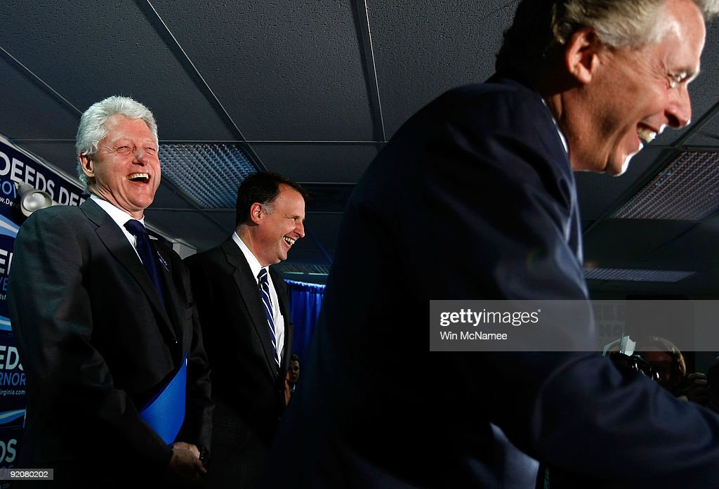 Bill Clinton Campaigns With Virginia Gubernatorial Candidate Creigh Deeds