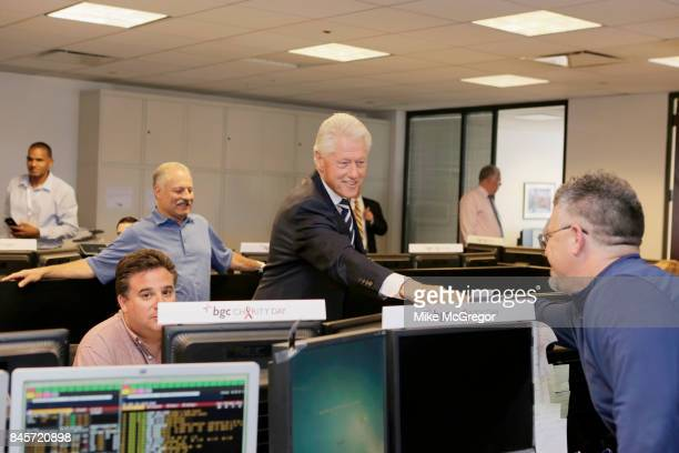 Former US President Bill Clinton attends Annual Charity Day hosted by Cantor Fitzgerald BGC and GFI at BGC Partners INC on September 11 2017 in New...
