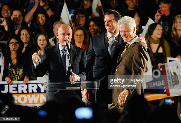 Former U.S. President Bill Clinton , Democratic gubernatorial candidate and California State Attorney General Jerry Brown and San Francisco Mayor...