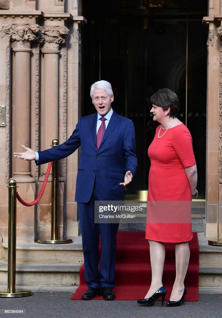 Former US President Bill Clinton Meets Northern Ireland Political Leaders