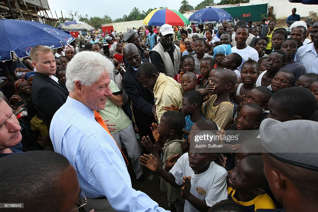 Bill Clinton Visits Clinton Foundation Projects In Africa : News Photo