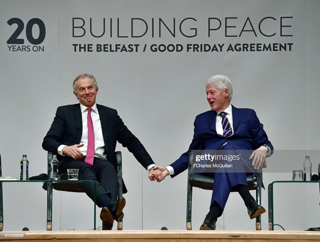 The 20th Anniversary Of The Signing Of The Good Friday Agreement : News Photo