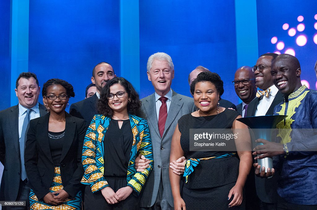 Business And Political Leaders Attend Clinton Global Initiative Annual Meeting : News Photo