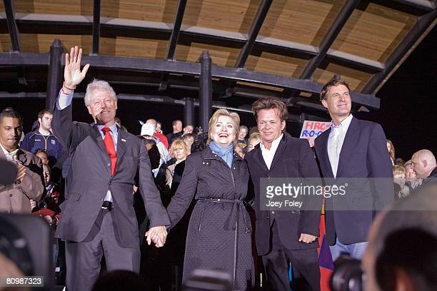 Former US president Bill Clinton,Democratic presidential hopeful New York Senator Hillary Rodham Clinton,singer John Mellencamp,and Indiana Governor...