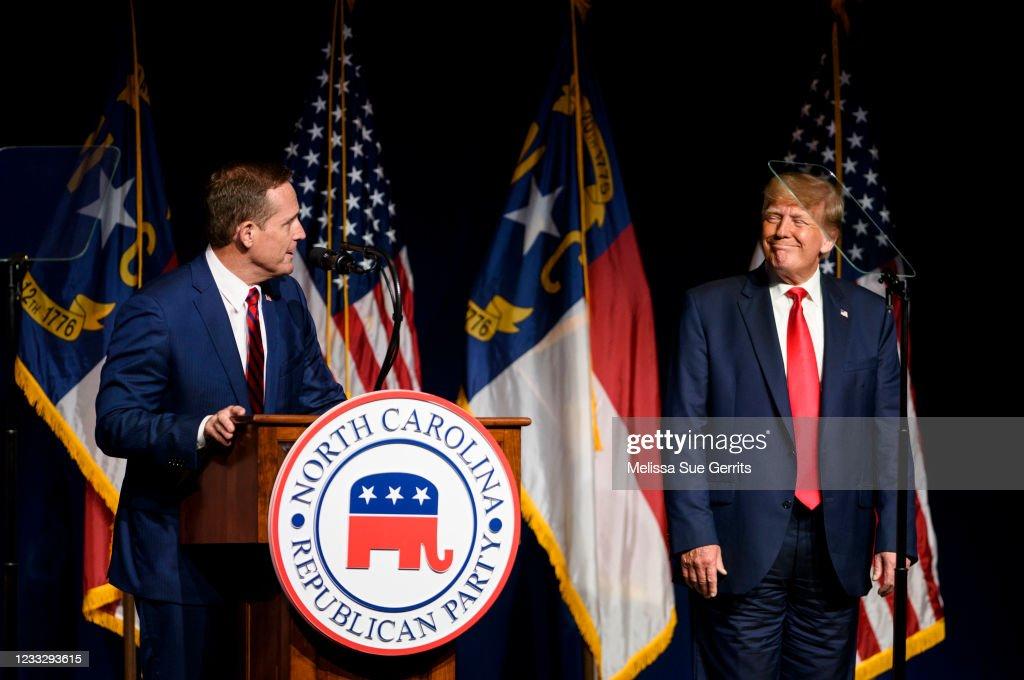 Former President Trump Addresses  The North Carolina GOP Convention : Foto di attualità