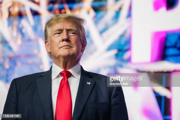 Former U.S. President Donald Trump makes an entrance at the Rally To Protect Our Elections conference on July 24, 2021 in Phoenix, Arizona. The...