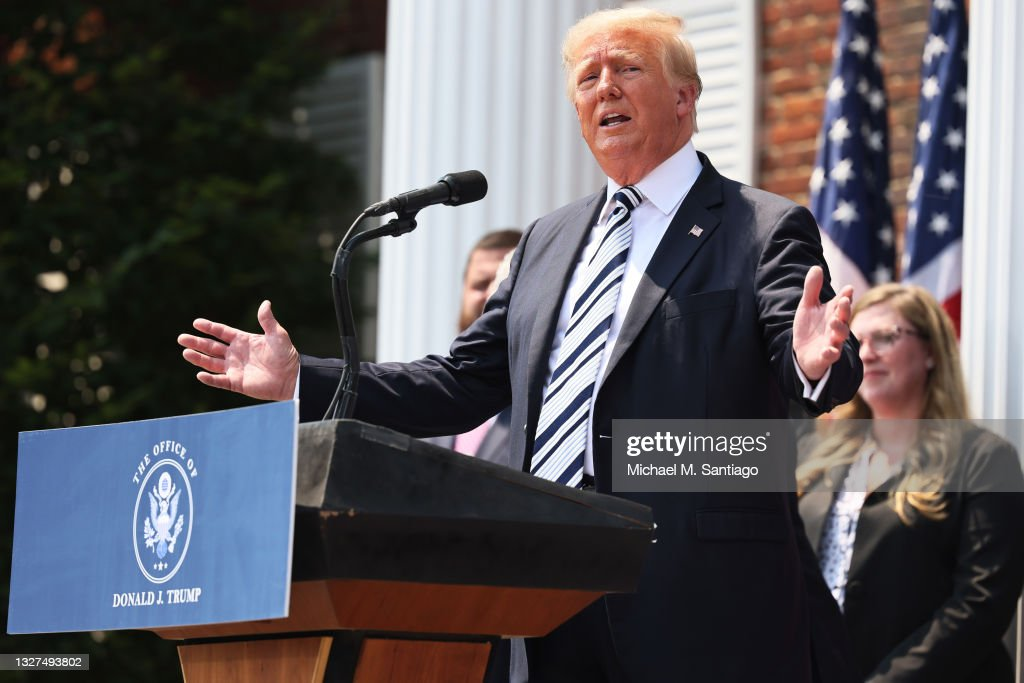 Donald Trump And America First Policy Institute Make Joint Announcement In NJ : News Photo