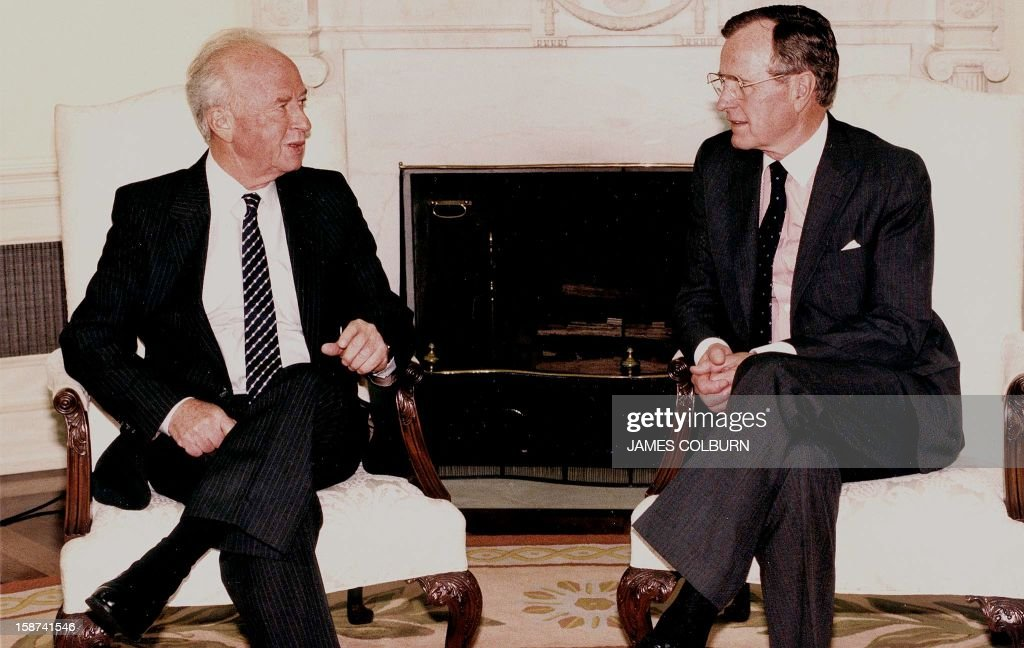 US-BUSH-RABIN : News Photo