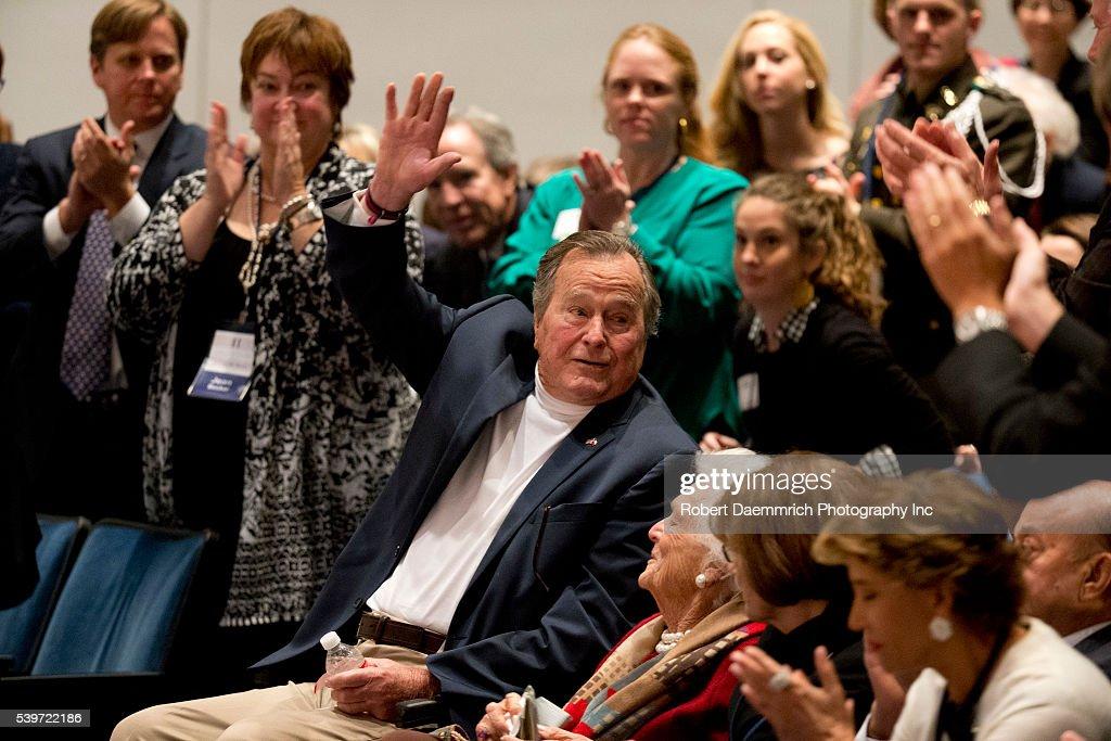 George W. Bush Pens Book on his Dad : News Photo