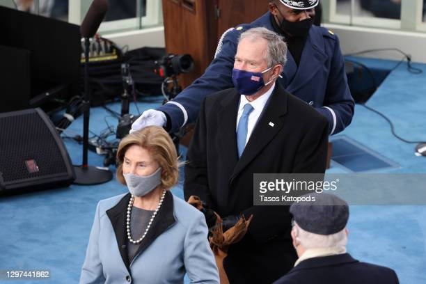 Former U.S. President George W. Bush and Laura Bush arrive to the inauguration of U.S. President-elect Joe Biden on the West Front of the U.S....