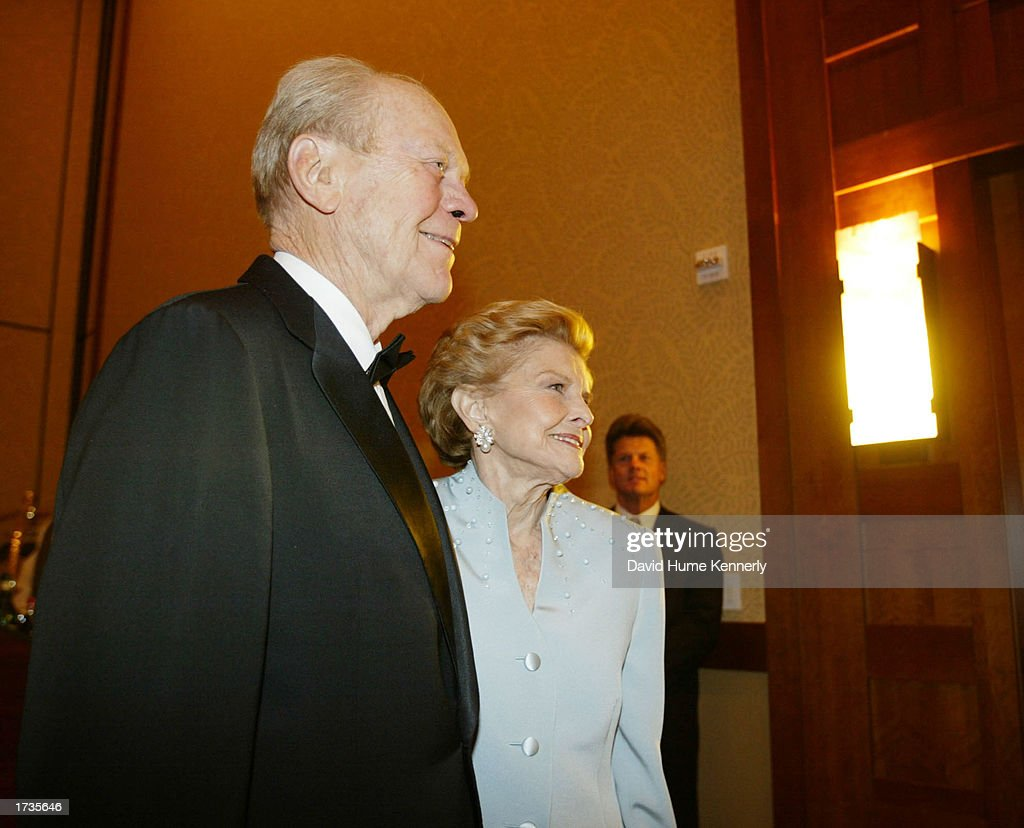 Former U.S. President Gerald Ford and and his wife Betty Ford attend the 20th anniversary celebration of the Betty Ford Center January 17, 2003 in Indian Wells, California.