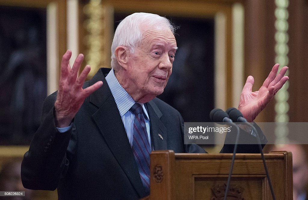Former US President Jimmy Carter Deliver A Lecture on Guinea Worm Eradication : News Photo