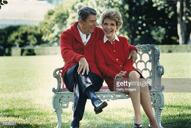 Former US President Ronald Reagan and First Lady Nancy Reagan share a moment in this undated file photo Reagan turns 93 on February 6 2004