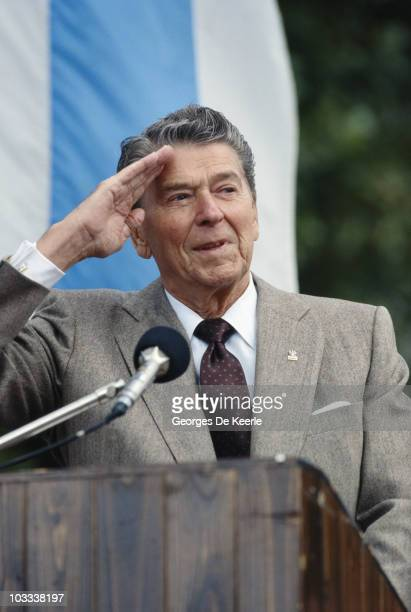 Former US President Ronald Reagan in Poland 16th September 1990